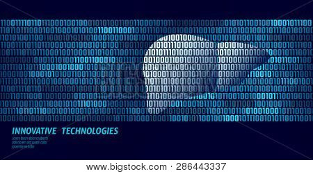 Healthy Liver Detoxification Internal Organs. Binary Code Data Flow. Doctor Online Innovative Techno