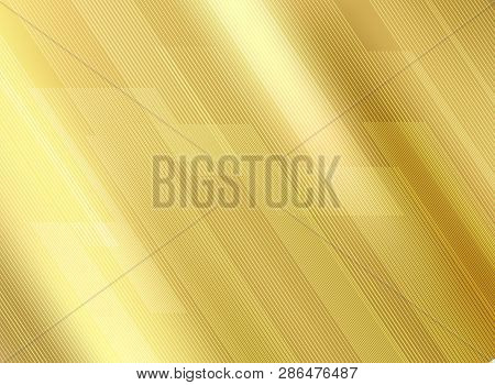 Abstract Lines Pattern Luxury Style On Golde Gradients Background And Texture. Template For Your Bea
