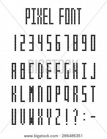 Pixel Font, Pixeled Vector & Photo (Free Trial) | Bigstock