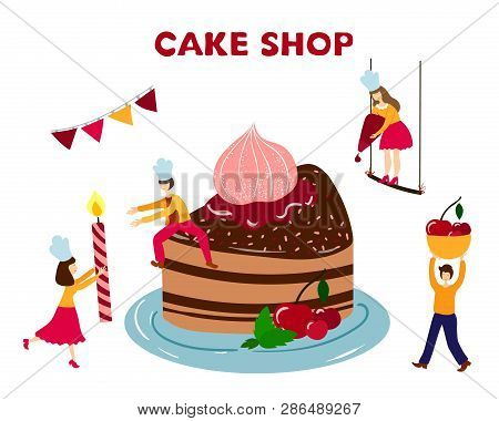 Phenomenal Teamwork Cooking Vector Photo Free Trial Bigstock Birthday Cards Printable Benkemecafe Filternl