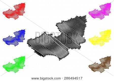 Lam Dong Province (socialist Republic Of Vietnam, Subdivisions Of Vietnam) Map Vector Illustration,