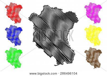 Tay Ninh Province (socialist Republic Of Vietnam, Subdivisions Of Vietnam) Map Vector Illustration,