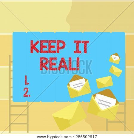 Word writing text Keep It Real. Business concept for Be yourself honest authentic genuine tell the truth always. poster