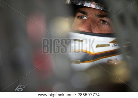 February 23, 2019 - Hampton, Georgia, USA: Darrell Wallace, Jr (43) gets ready to practice for the Folds of Honor QuikTrip 500 at Atlanta Motor Speedway in Hampton, Georgia.