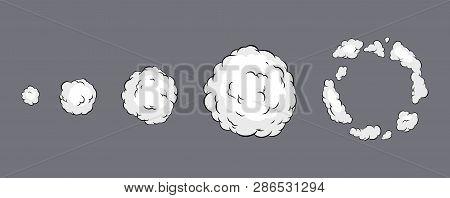 Smoke Explosion Animation. Smoke Animation. Explosion Animation. Sprite Sheet For Game, Cartoon Or A