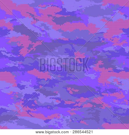Abstract Background Vector-bright Mauve Spots. Colorful Poisonous Background Camouflage.