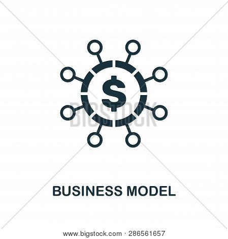 Business Model Icon. Creative Element Design From Fintech Technology Icons Collection. Pixel Perfect