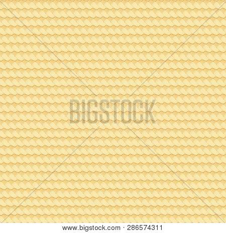 Straw Abstract Texture. Rattan Wattled Mat. Natural Bamboo Seamless Pattern. Basket Wicker Surface.