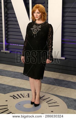 LOS ANGELES - FEB 24:  Christina Hendricks at the 2019 Vanity Fair Oscar Party on the Wallis Annenberg Center for the Performing Arts on February 24, 2019 in Beverly Hills,