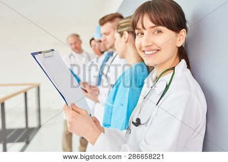 Young woman as nurse or doctor in training