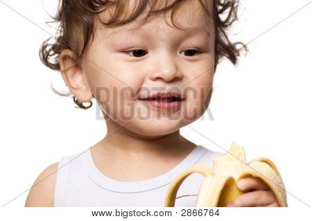 Child With Banana.