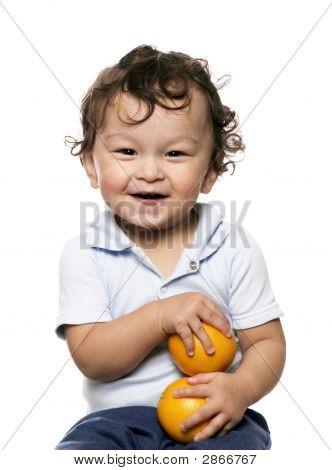 das Kind mit Orangen.