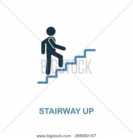 Stairway Up Icon. Monochrome Style Design From Shopping Center Sign Icon Collection. Ui. Pixel Perfe