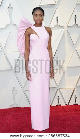 Kiki Layne at the 91st Annual Academy Awards held at the Hollywood and Highland in Los Angeles, USA on February 24, 2019.