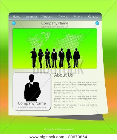 Website templates with business team