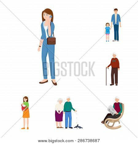 Vector Design Of Family  And People Sign. Set Of Family  And Avatar  Stock Symbol For Web.