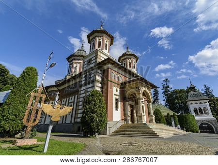 The Holy Monastery of Sinaia, located near Peles castle in Sinaia, Romania poster