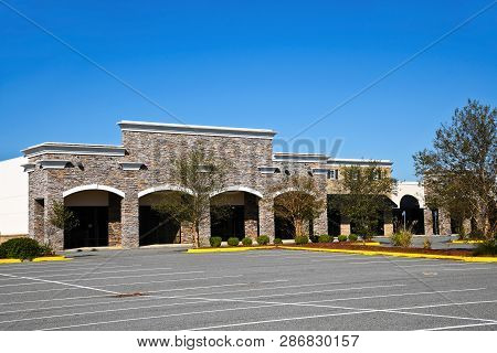 Abandoned New Commercial Building With Retail, Restaurant And Office Space Available For Sale Or Lea