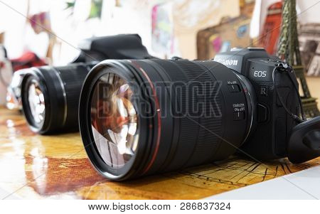 Bangkok, Thailand - February 28, 2019: Image Of Canon Eos Rp Mirrorless Digital Camera With Kit Lens