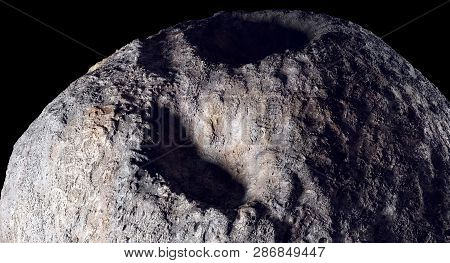 Metal Asteroid - 3d Rendering 16 Psyche Is One Of The Ten Most-massive Asteroid-s In The Asteroid Be