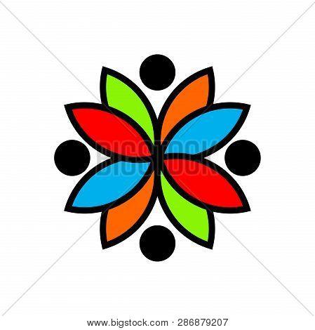 Abstract Man Figure Logo. People Logo. Friendship Icon. People Icon. Teamwork Icon. Happy People Ico