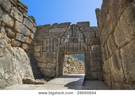 Lion Gate At Mycenae, Greece