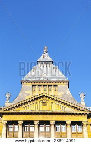 Az Anker Building At Deak Ference Square In Budapest, Hungary