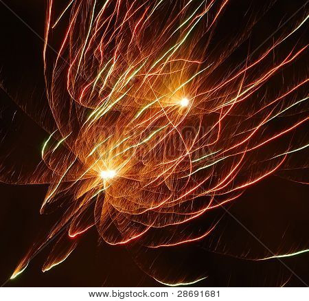 The Abstract Background. A Fiery Lines.