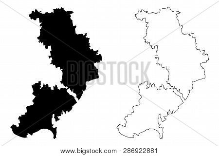 Odessa Oblast (administrative Divisions Of Ukraine, Oblasts Of Ukraine) Map Vector Illustration, Scr
