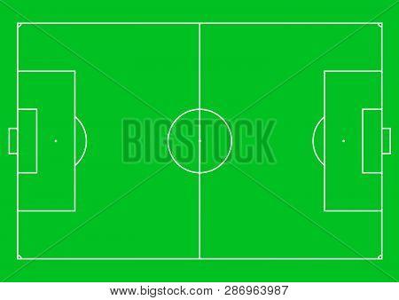 Football Pitch (football Field Or Soccer Field). Vector Illustration.