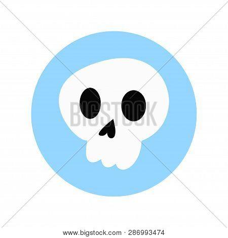 Skull. Skull Icon. The Symbol Of The Skull. Logo Skull. Vector Illustration. Eps 10.
