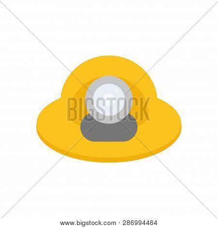 Miners Helmet With A Lamp. Helmet. Vector Illustration. Eps 10.