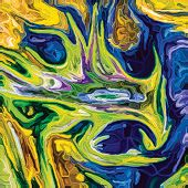 Paint Swirls series. Turbulent streaks of color for use as abstract art background. poster