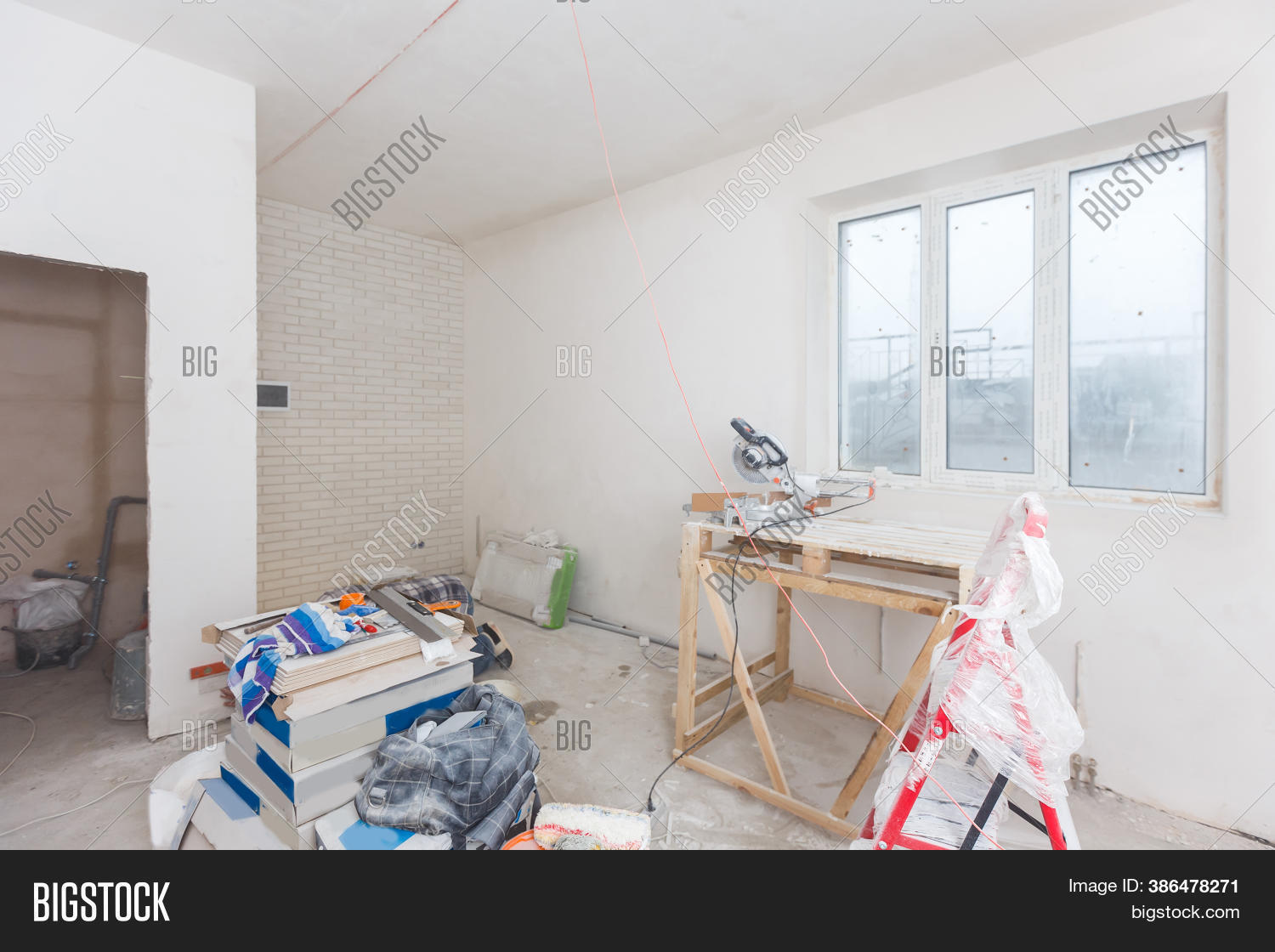 Remodeling Attic Image Photo Free Trial Bigstock