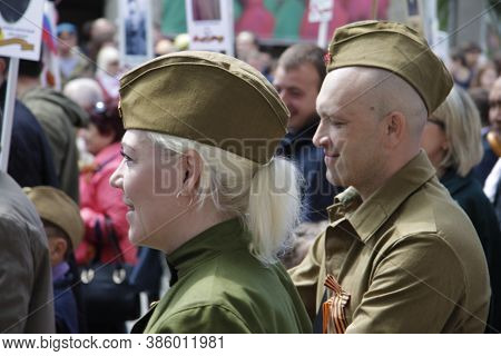 Victory Parade Of The 71th Anniversary Of The Victory Day, Pyatigorsk Russia - May 09, 2016