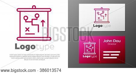 Logotype Line Planning Strategy Concept Icon Isolated On White Background. Cup Formation And Tactic.
