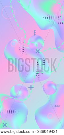 Trendy Creative Vector Space Gradient. Abstract Vector Cover.  Creative Fluid Background From Curren