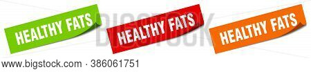 Healthy Fats Sticker. Healthy Fats Square Isolated Sign. Label
