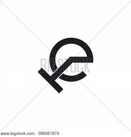 Letter Te Circle Geometric Symbol Logo Vector