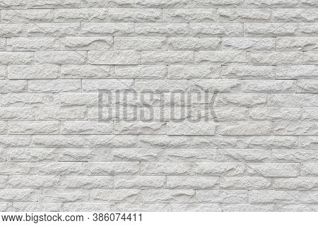 White Color Grunge Brick Wall For Texture Background
