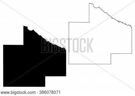 Redwood County, Minnesota (u.s. County, United States Of America, Usa, U.s., Us) Map Vector Illustra