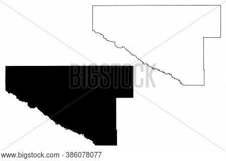 Renville County, Minnesota (u.s. County, United States Of America, Usa, U.s., Us) Map Vector Illustr