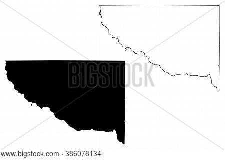 Sherburne County, Minnesota (u.s. County, United States Of America, Usa, U.s., Us) Map Vector Illust