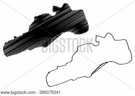 Barquisimeto City (bolivarian Republic Of Venezuela, Lara State) Map Vector Illustration, Scribble S