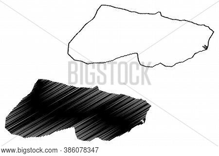 Caracas City (bolivarian Republic Of Venezuela, Capital District State) Map Vector Illustration, Scr