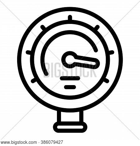 Manometer Pressure Icon. Outline Manometer Pressure Vector Icon For Web Design Isolated On White Bac