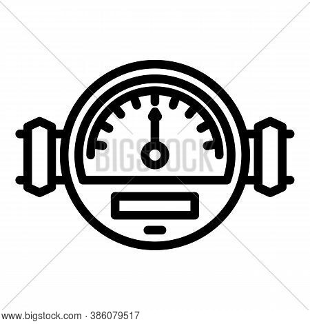 Manometer Meter Icon. Outline Manometer Meter Vector Icon For Web Design Isolated On White Backgroun