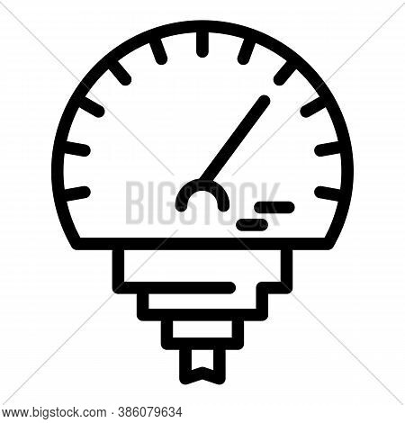Manometer Temperature Icon. Outline Manometer Temperature Vector Icon For Web Design Isolated On Whi