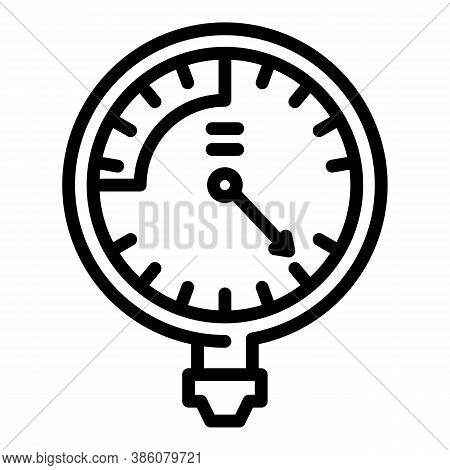 Manometer Fuel Icon. Outline Manometer Fuel Vector Icon For Web Design Isolated On White Background