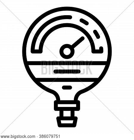 Manometer Industrial Icon. Outline Manometer Industrial Vector Icon For Web Design Isolated On White
